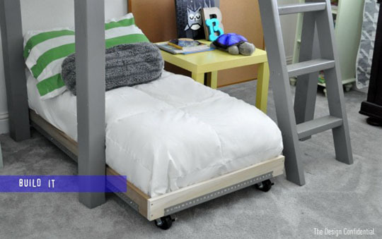 Build a Toddler Industrial Cart Bed