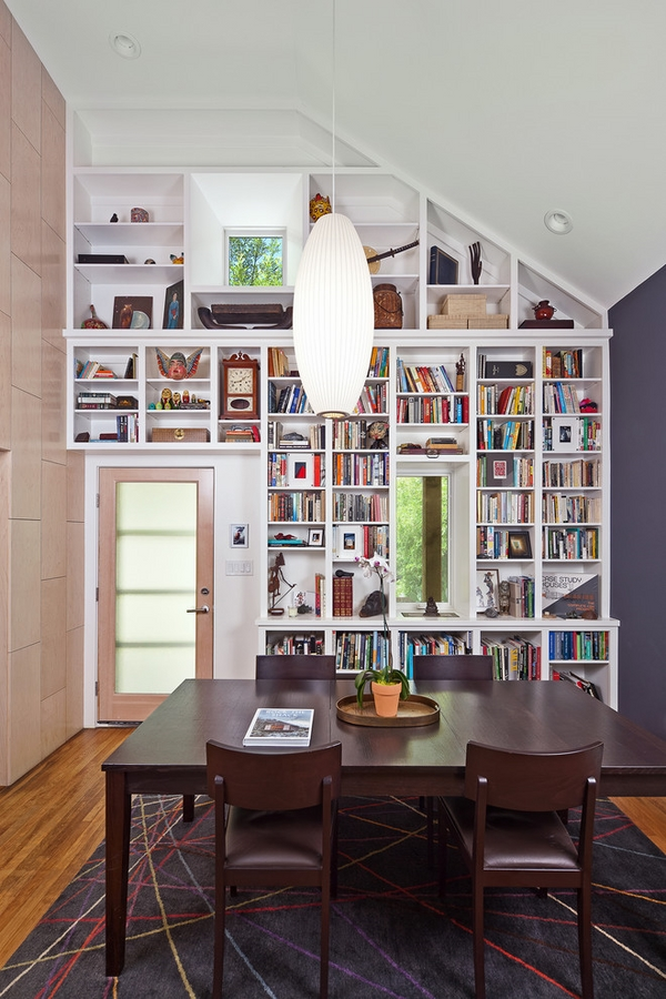 white-wall-bookshelves-design-ideas-dining-room-interior-ideas