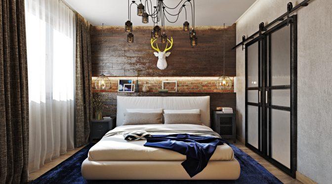 01-This-industrial-meets-rustic-bedroom-is-a-very-stylish-and-bold-space