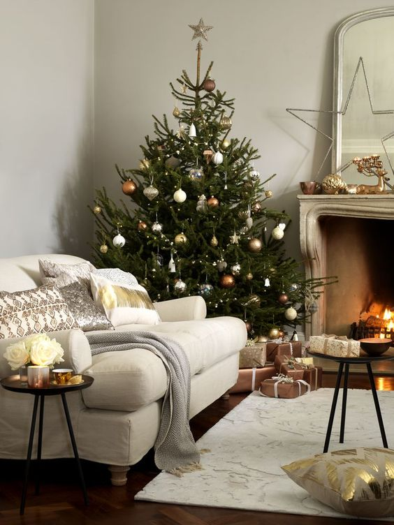 13-copper-and-ivory-ornaments-for-decorating-a-tree-and-mantel-decor