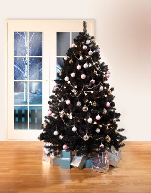 22-decorate-your-black-tree-with-pastel-ornaments-to-make-it-look-cute-and-contrasting