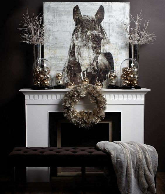 34-metallic-Christmas-ornaments-in-cloches-and-a-metallic-wreath