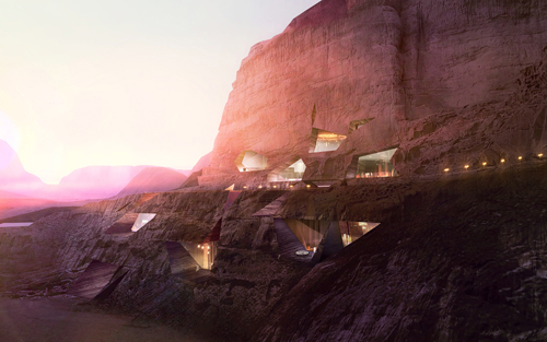 Cave Hotel by Oppenheim architecture + design