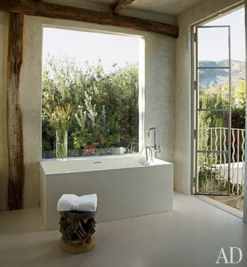 Indoor-Outdoor Bathroom from Architectural Digest