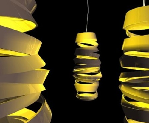 Curl My Light Hanging Lamps by Dima Loginoff