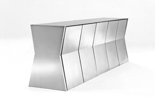 The Monolith Metal Table & Chairs from Gioia Design