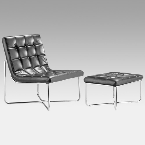 Zuo Modern Waltz Accent Chair & Ottoman