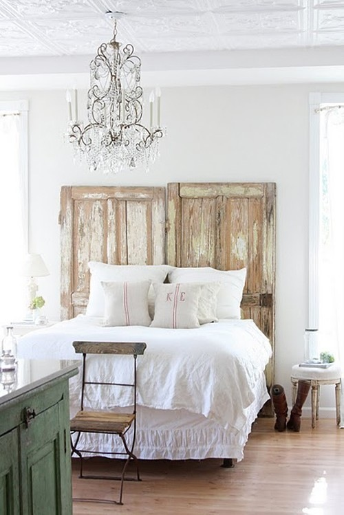 DIY Reclaimed Doors Headboard via Style-Files