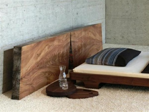 Slab Bed with Detached Headboard from Ign Design