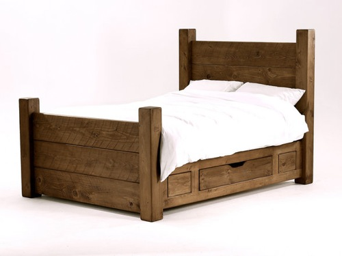 Pine Plank Bed from Bison Furniture