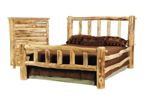 Log Bed from Mountain Woods Furniture