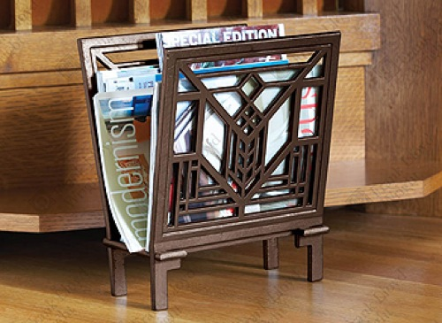 Lake Geneva Magazine Rack by Frank Lloyd Wright via WrightShop