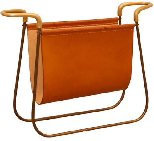 Midcentury Modern Magazine Rack from Carl Aubock