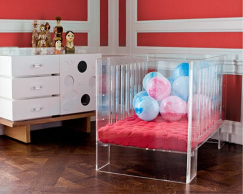 The Hollis Crib in Nontoxic Clear Acrylic from Giggle