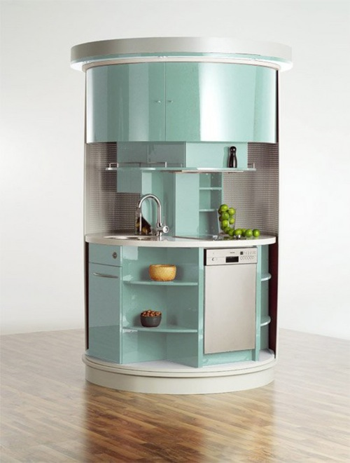 Small Round Kitchen in Robin's Egg Blue from Iroonie