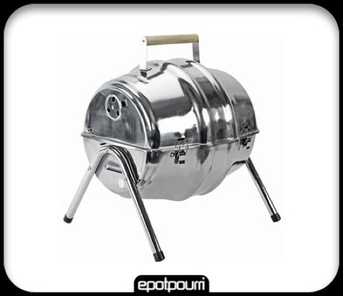 Beer Barrel BBQ Grill via Epotpourri