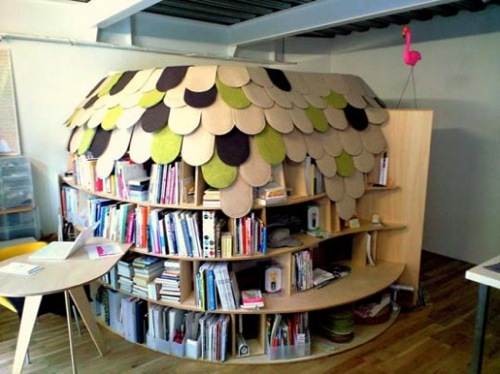 Book Shelf Fort by Point Architects