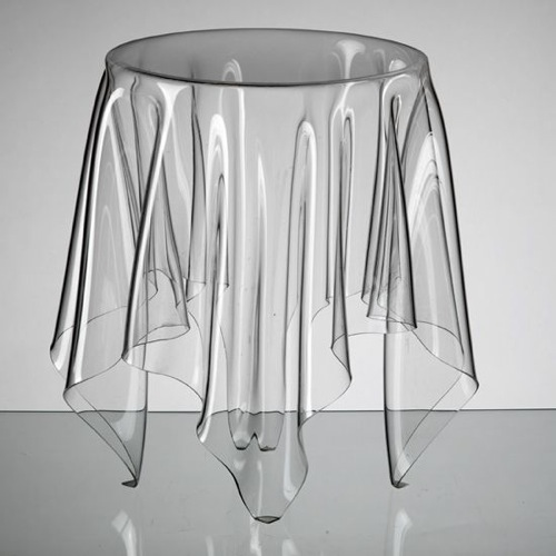 Clear Acrylic Illusion Table by John Brauer