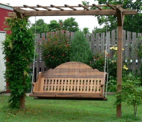 Custom Wood Swing by Country Custom Furnishings