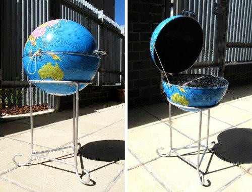 Globe-Turned-BBQ by Goldenhen via Inhabitat