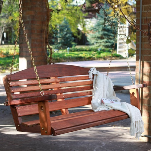 Great American Woodies Red Cedar Classic Porch Swing
