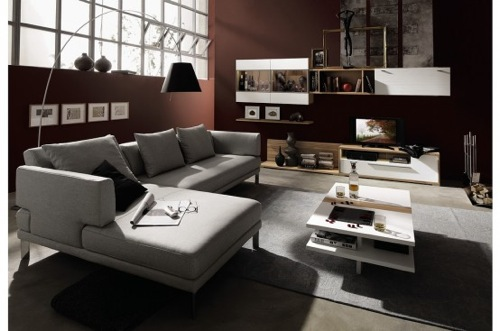 Large Couch with Ottoman by Hulsta Design