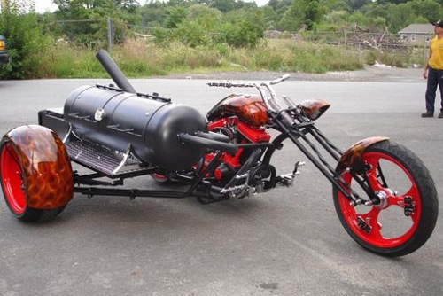 Motorcycle BBQ Grill via Waylou