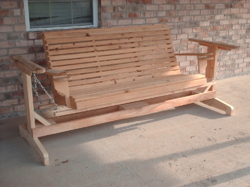 Wooden Porch Glider by Willies Woodworks