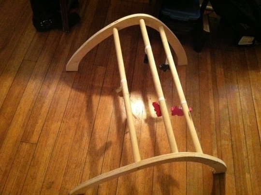 Handmade Wooden Play Arch Gym: Solstice Woodworks ($60)
