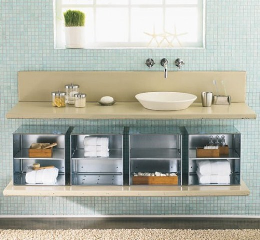 Creative storage solutions for small bathrooms