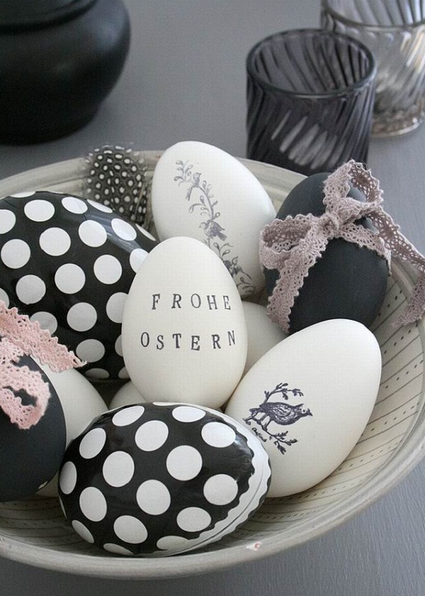 Easter-holiday-crafts-ideas-black-and-white-eggs