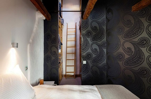 bedroom-design-wall-decoration-fleece-wallpaper-Exclusive-Loft-on-Strandvagen