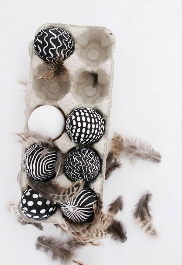 how-to-make-black-and-white-easter-eggs-decoration-modern-eggs
