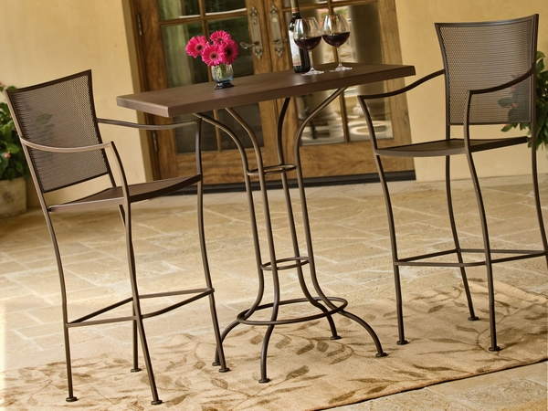 classic-wrought-iron-outdoor-set-square-table-tall-chairs