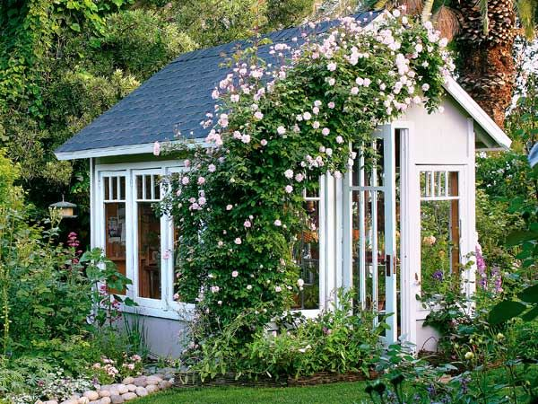 elegant-romantic-backyard-cottage-with-beautiful-blooming-flowers