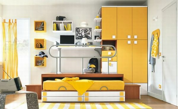 funny-yellow-wall-paint-small-nursery-design