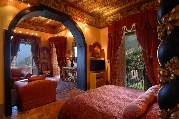 luxury-baroque-villa-bedroom-interior-design-canopy-bed-painted-ceiling