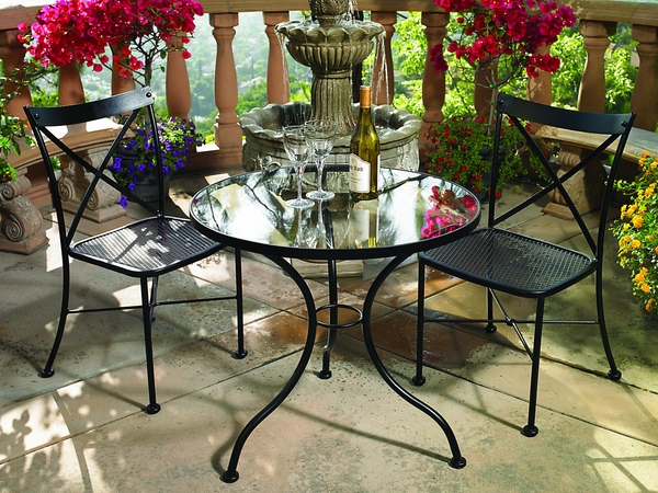outdoor-furniture-ideas-wrought-iron-set-coffee-table-chairs