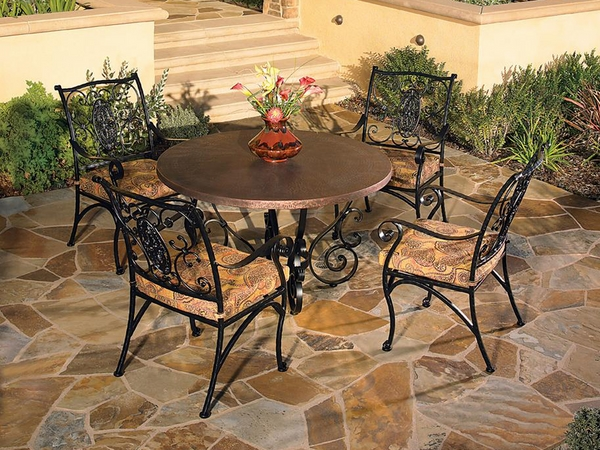 patio-furniture-wrought-iron-dining-set-round-table-stylish-chairs