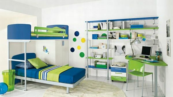 practical-bookcase-small-Youth-room-double-bed