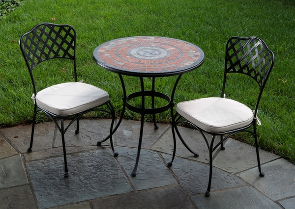 wrought-iron-patio-furniture-small-round-table-white-pads