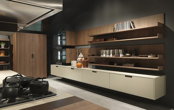 contemporary-Italian-kitchen-design-floating-shelves-and-cabinets-Arts-and-Crafts-kitchen-Pedini