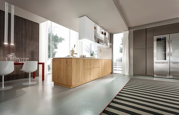 contemporary-Italian-kitchen-design-natural-wood-glossy-surfaces