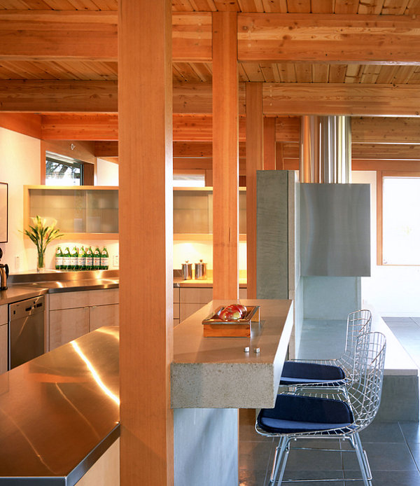 contemporary-kitchen-wood-stainless-steel-combination