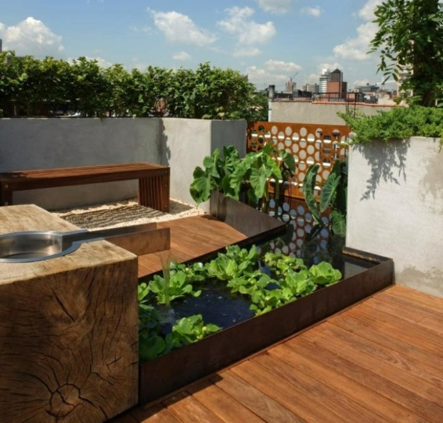 small-balcony-mini-pond-plants-garden-fountains-water-features-ideas