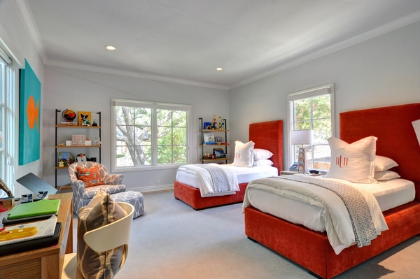 Modern-kids-bedroom-furniture-tufted-headboards-red