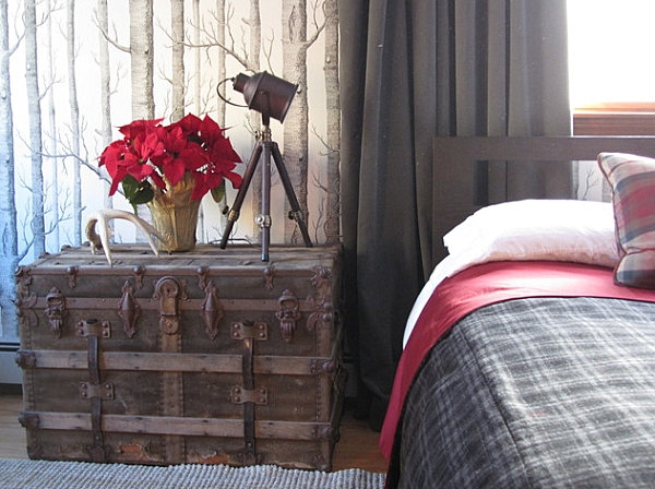 how-to-decorate-a-small-bedroom-ideas-wooden-chest-bedside-table