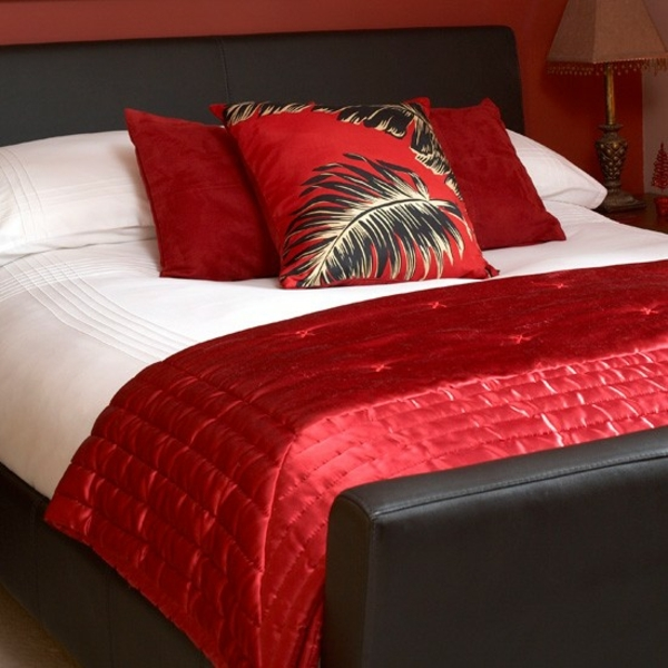how-to-decorate-a-small-bedroom-red-decorative-pillows