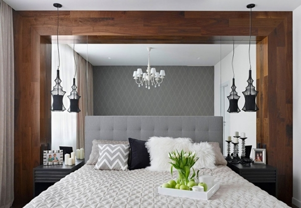 small-bedroom-decorating-ideas-wall-mirror-black-white
