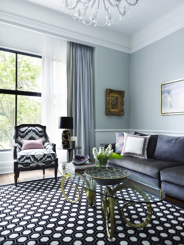 double-curtain-rod-contemporary-living-room-window-treatment